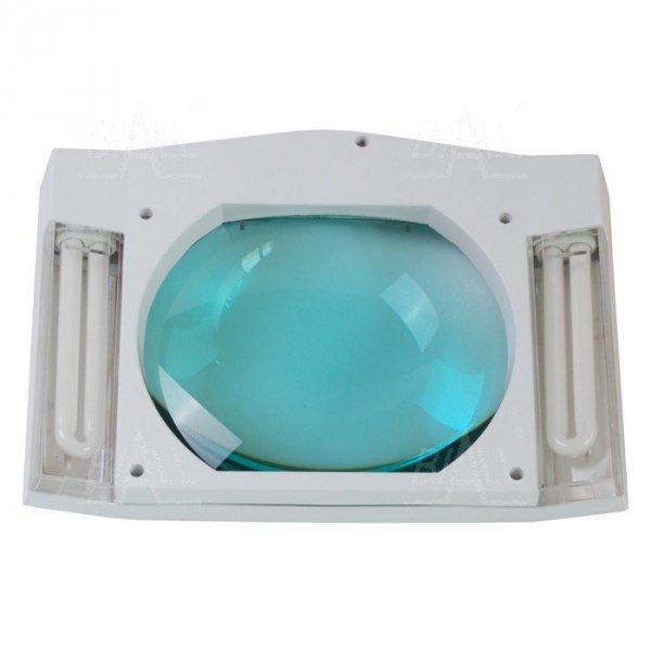Lampa warsztatowa z lupą(190x157mm) 8069DC 5D 2x9W