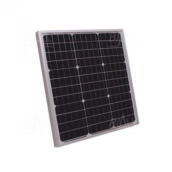 Panel PV monokrystaliczny 40W Vmp 17,2V Imp 2,24A  (520x530x30)