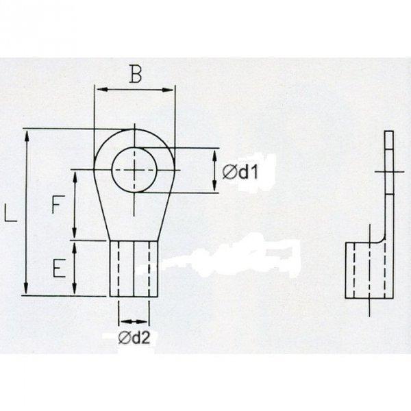 KON5-8 Końc. oczkowa nieizol. 4-6mm2/M8 100szt