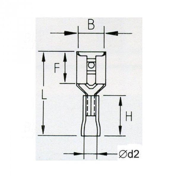 KFR48x08 Konektor żeński izolowany 100szt