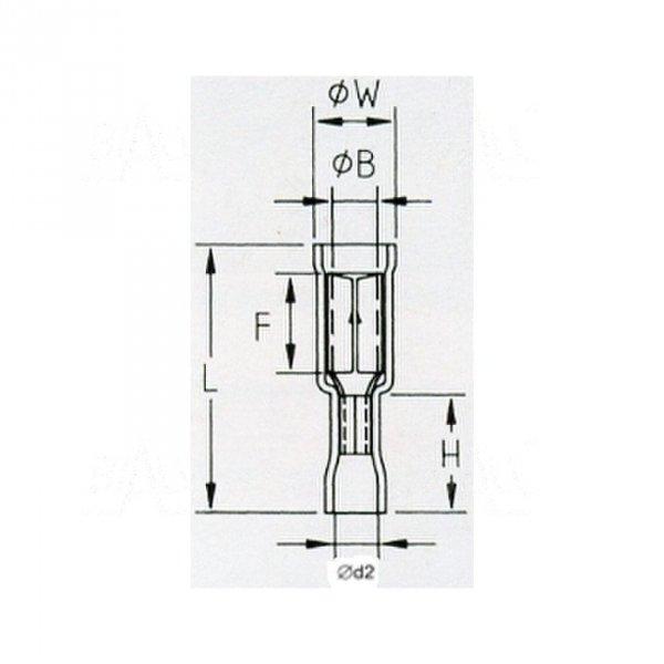 KFOIY5 Konektor okrągły izol. żeński 5mm  100szt