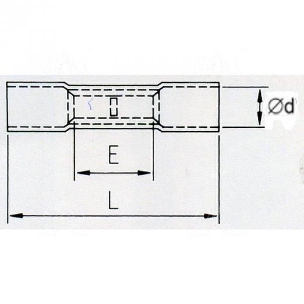 KLTR Łącznik kabl. izol. termokurcz. 0,5-1,5mm2 100szt