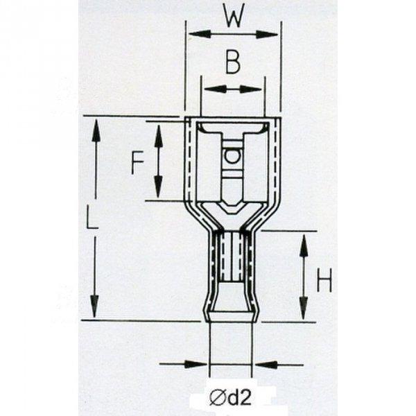 KFIY63x08D Konektor żeński izol. 100szt