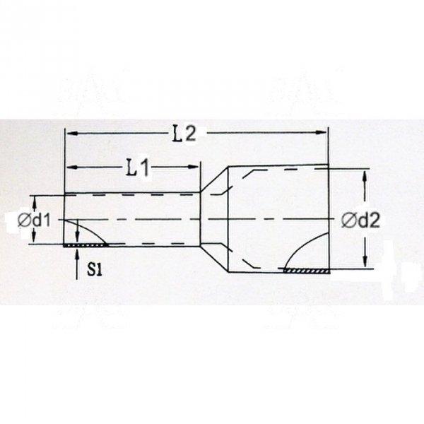 KR010010 R Tulejka izolow. 1,0mm2x10   100szt