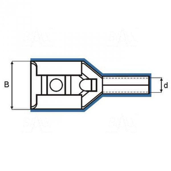 ZKF-2.5mm2-2.8 R Konekt. żeński złocony, czerw. osłona