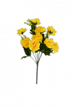 Bukiet róży satynowy  x 9 kwiatów  MIX