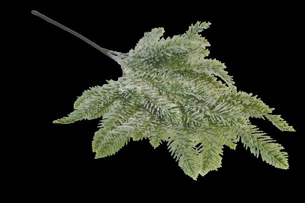 Gałązka dekoracyjna iglasta ośnieżona 56 cm