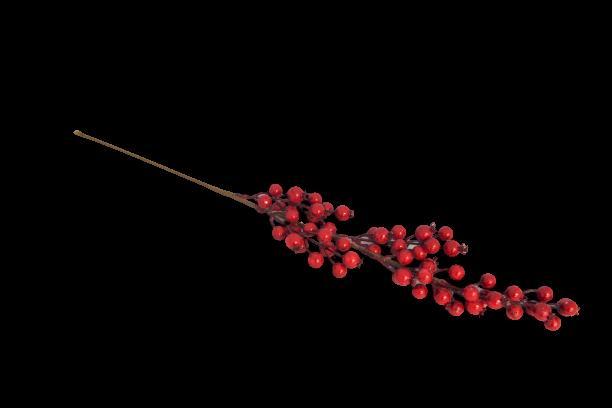 Gałązka dekoracyjna z czerwonymi owocami 65 cm