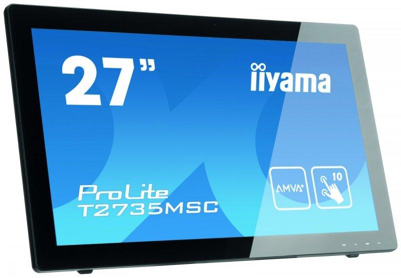 IIYAMA 27'' T2735MSC-B2 AMVA+, 10p P-Cap, USB, HDMI, Kamera, Mikrofon