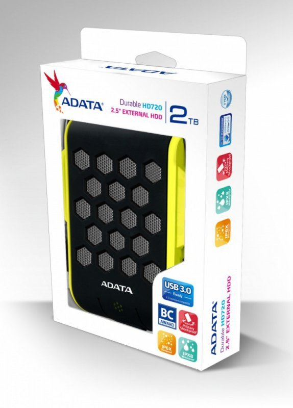 Adata DashDrive Durable HD720 2TB 2.5'' USB3.0 Zielony