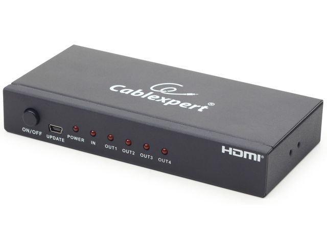 Gembird Przełącznik/Splitter HDMIx1->HDMIx4
