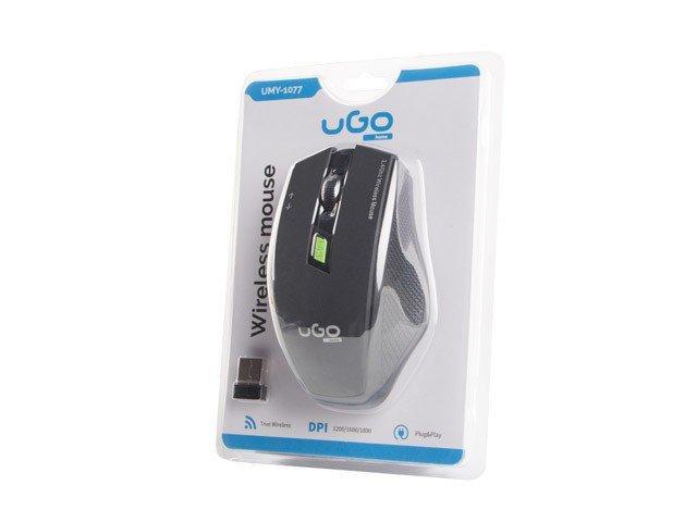 UGo Mysz bezprzewodowa MY-04 2.4GHz 1800DPI optyczna czarna
