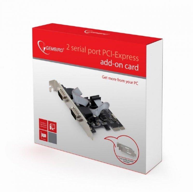 Gembird Karta PCI Express/ 2porty RS232/2MBps