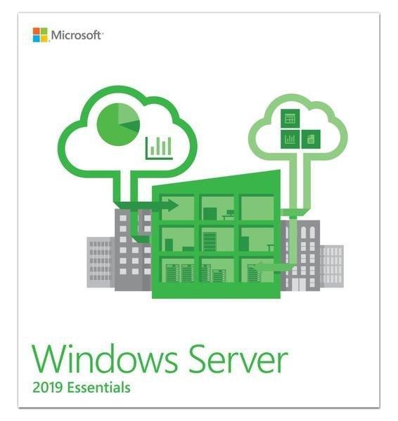Microsoft Oprogramowanie OEM Win Svr Essentials 2019 PL x64 1-2CPU DVD G3S-01306