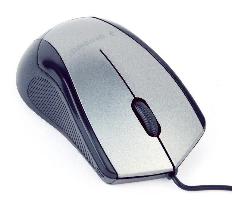 Gembird Mysz optyczna czarno-szara