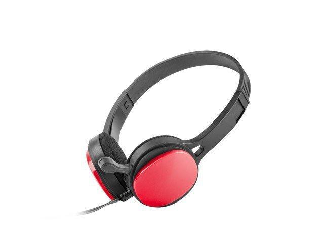 UGo Słuchawki nauszne USL-1222 z mikrofonem czerwone