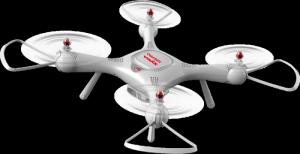 Syma X25 PRO (GPS, zdalnie obracana kamera WiFi FPV 720p, 2.4GHz, 37.5cm) - Biały