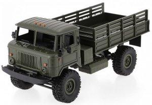 Ciężarówka wojskowa WPL B-24 (1:16, 4x4, 2.4G, LiPo) - Zielony