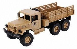 Ciężarówka wojskowa WPL B-16 (1:16, 6x6, 2.4G, LiPo) - Żółty