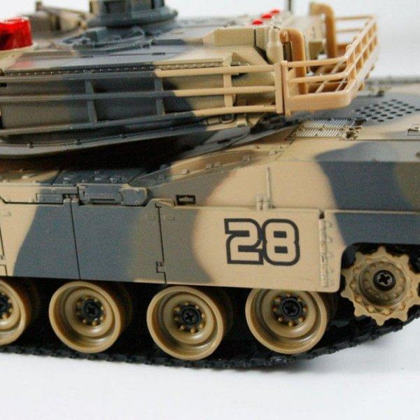 Zestaw wzajemnie walczących czołgów German Tiger i Abrams RTR 1:32 2.4GHz