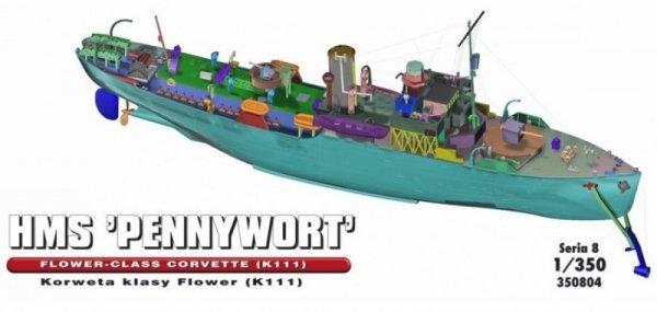 """HMS """"PENNYWORT"""" Brytyjska Korweta klasy Flower K111"""