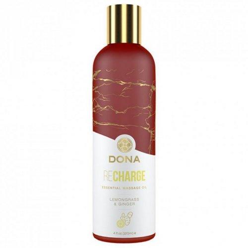 Olejek do masażu - Dona Essential Massage Oil Recharge Lemongrass & Ginger 120 ml