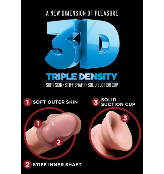 """King Cock Plus 5"""" Triple Density Cock with Balls"""