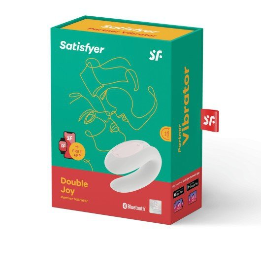 Zdalny Wibrator Satisfayer Double Joy White incl. Bluetooth and App