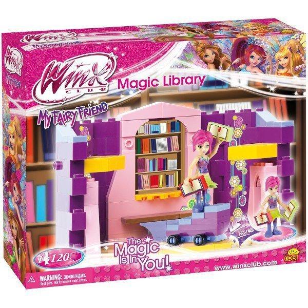 Klocki Winx Magiczna Bibli oteka 120 elementów