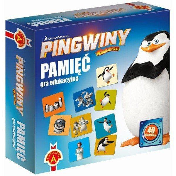 Gra Pamięć Pingwiny z Madagask