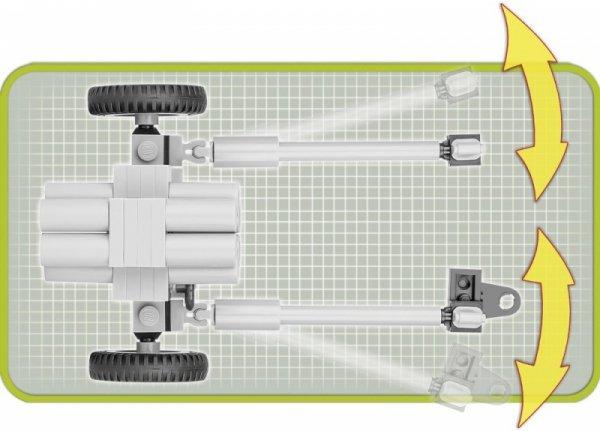 Klocki Armia Nebelwerfer 41-15 cm - wieloprowadnicowa wyrzutnia rakietowa, 80 elementów