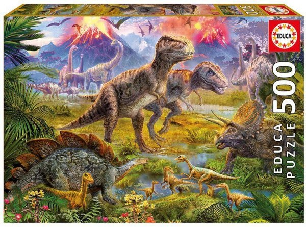 Puzzle 500 elementów, Spotkanie Dinozaurów
