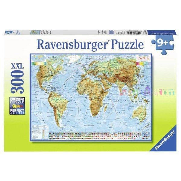 Puzzle 300 elementów Polityczna Mapa Świata