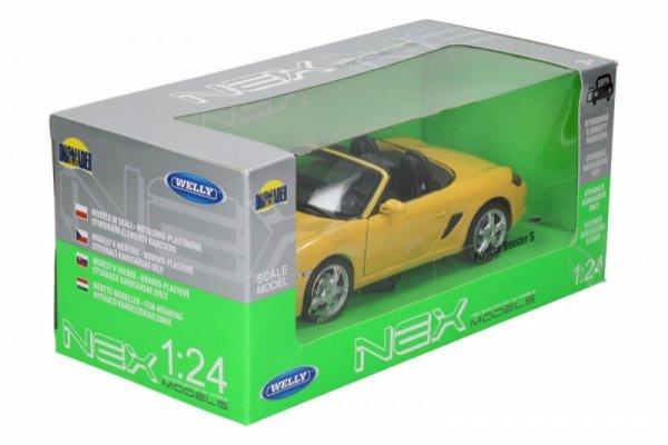 Porsche Boxter S, żółte
