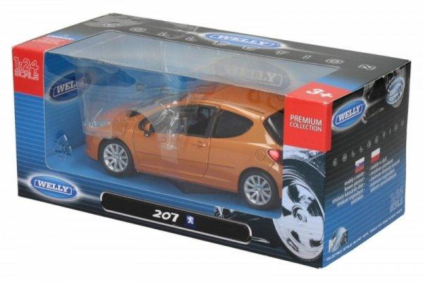 Peugeot 207, pomarańczowy