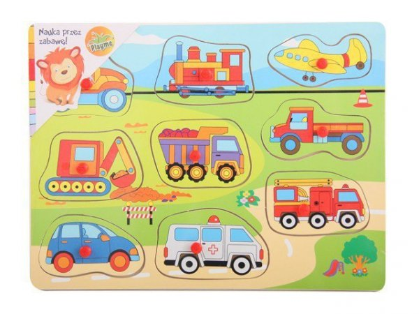 Układanka drewniana Pojazdy