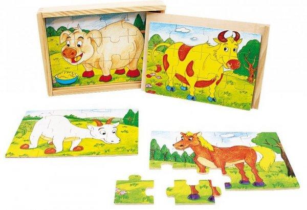 Układanka drewniana Zwierzęta domowe