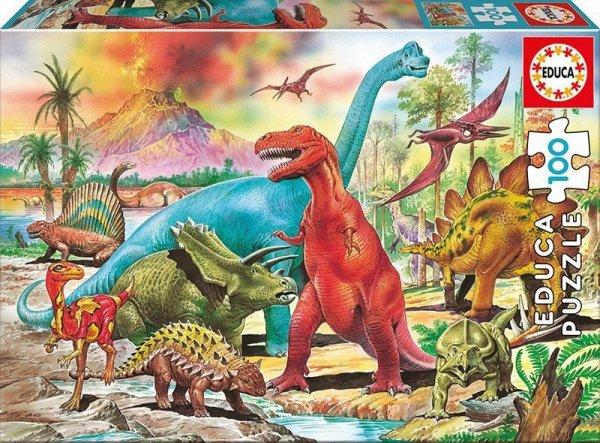 Puzzle 100 elementów, Dinozaury