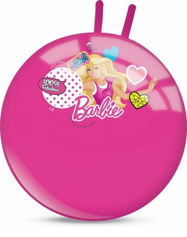 Piłka skacząca Barbie 50 cm