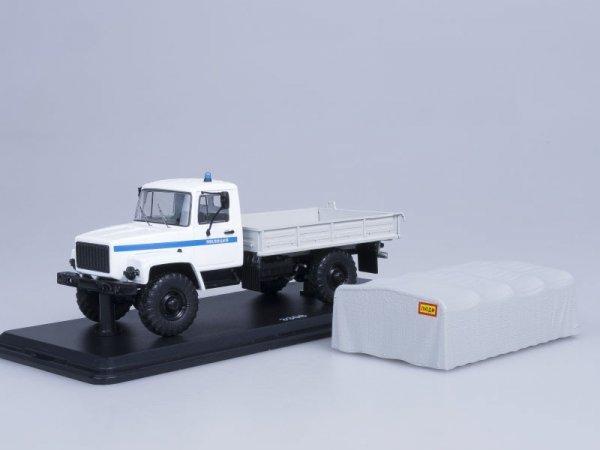 GAZ-3308 4×4 Flatbed Truck Police