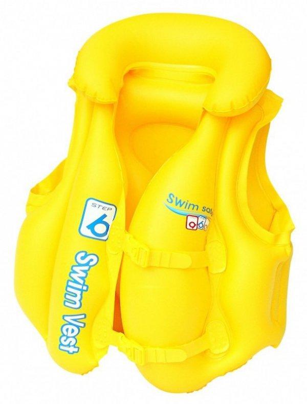 Kamizelka do nauki pływania żółta 51x46 cm