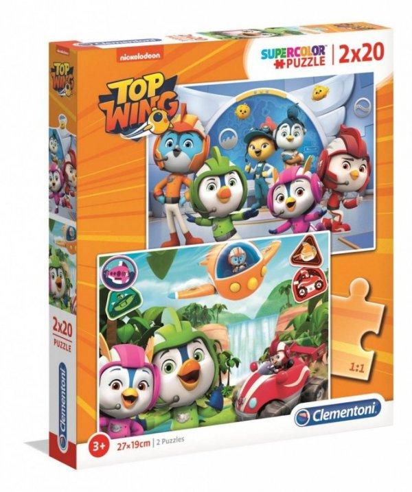 Puzzle 2x20 elementów Super Kolor Top Wing