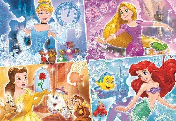 Puzzle 180 elementów Super Kolor Księżniczki Disneya