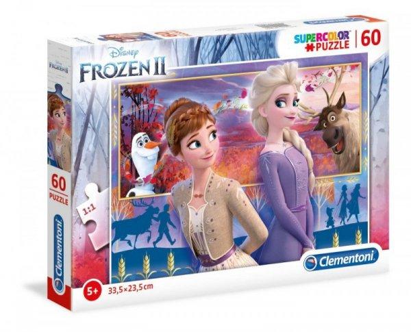Puzzle 60 elementów Super Kolor Kraina lodu  2