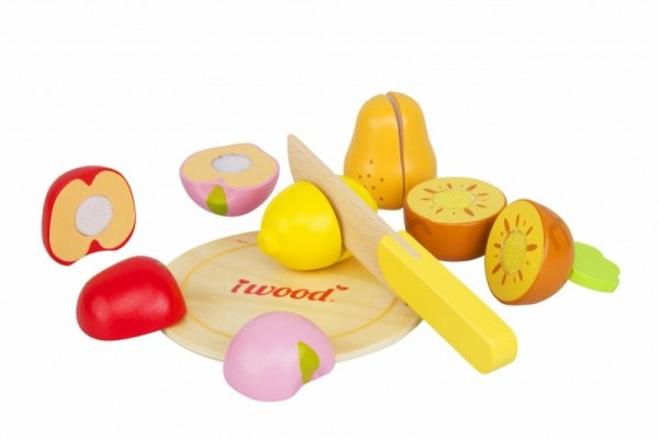 Drewniane owoce do krojenia