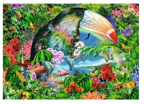 Puzzle Spiral  Tropikalne Zwierzęta