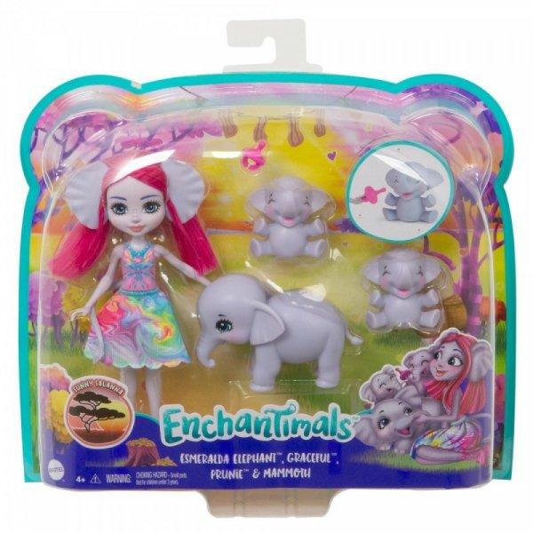 Lalka Enchantimals Rodzina Wielopak Słonik Esmeralda