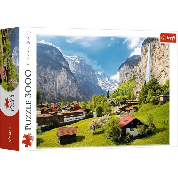Puzzle 3000 elementów Lauterbrunnen Szwajcaria