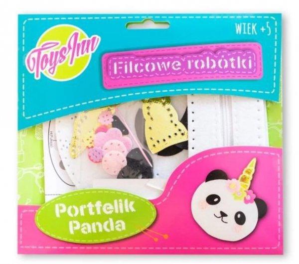 Filcowe robótki Portfelik panda