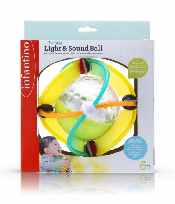 Infantino Gumowa piłka światełka, dźwięk